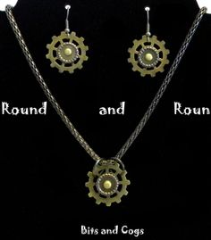 Gear Themed Steampunk Jewelry Set by BitsandCogs on Etsy, $25.00