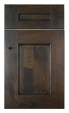 Similar to our cabinets- Alder, Charcoal Stain