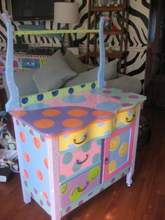 I would only do this is the wood couldn't be refinished. Adorable for a kids dressup trunk!