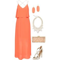 Wedding Guest 6 by smlomas on Polyvore featuring VILA, BCBGMAXAZRIA and Kendra Scott
