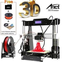 Anet Upgraded Assembly Printer RepRap DIY Kit Auto Level W/ Filament for sale online 3d Printer For Sale, 3d Printer Kit, Best 3d Printer, Desktop 3d Printer, Prusa I3, 3d Printer Filament, Home Office Setup, Sd Card, Diy Kits