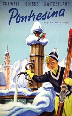 Pontresina - 1955 - (Laubi Hugo) -