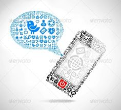 Mobile Phone Text Message Balloons