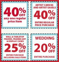 Michaels Weekly Printable Coupons! - Canadian Savers