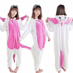 570677c9cc New Winter Adult Women Animal Pajamas Flannel Pajama Sets Halloween Hooded  Sleepwear Homewear Unicorn Stitch Panda Zebra Pikachu