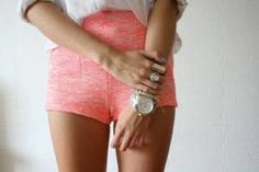 I just purchased these lovely coral shorts the other day! I can't wait to wear them to the beach music festival tommorow :) #salmon #short shorts