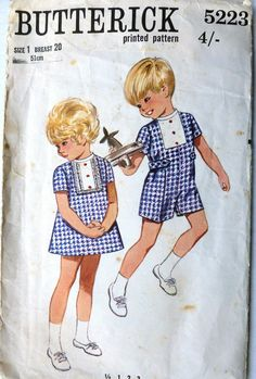 #Vintage #Sewing #Pattern A-line #Dress & #Jumpsuit with front insert Butterick 5223