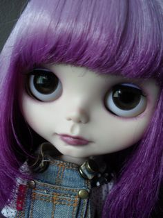 Simply Lilac customised Blythe Doll by KittyCatCustoms on Etsy