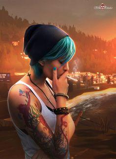 Chloe Price Cosplay - Life is Strange - Life Is Strange Fanart, Life Is Strange 3, Chloe Price, Foto Fantasy, Fantasy Girl, Smoking Ladies, Girl Smoking, Weird Tattoos, Life Tattoos