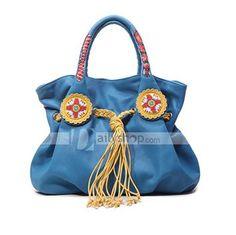 PU Leather Tassels Women Handbag Bags