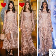 Elie Saab soft pink dresses! Love them!