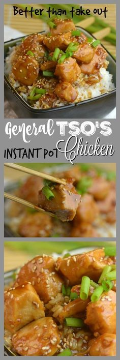 Better than Take-out Instant Pot General Tso's Chicken Is the perfect hint of spicy and sweet and the chicken is so tender it melts in your mouth. Serve over rice and you will have the biggest hit in your house. I think I have a new favorite for the Instant pot.