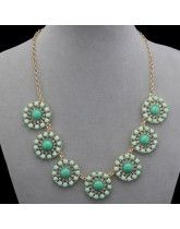 2013 Delicate J *CrewRound Sunflower Crystal Gem  Collarbone Chain Necklace Free Shipping