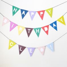 """one set of DIY alphabet bunting in a printable, high resolution PDF file (full details below).  just print, cut, punch holes and thread onto twine or wool for an instant celebration! (colours as photographed)  18 pages of A4 includes:   - full alphabet - all numbers - 12 solid colour flags - # = ! ? +   each flag measures approx. 14cm long (5.5"""") x 13cm wide (5"""")  file will be emailed as an instant download within 24 hours of purchase. high resolution PDF to fit an A4 home, offi..."""