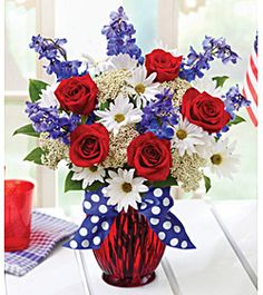 30 Patriotic Floral Arrangements Ideas Floral Arrangements Floral Arrangement