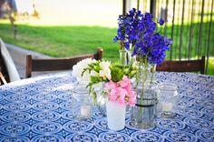 Vintage Backyard Wedding Reception