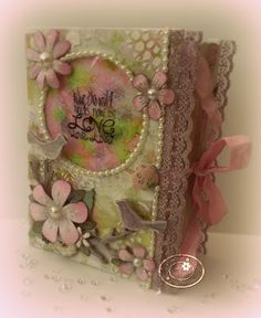 PolkaDoodles Paper/Stamp Kit Project - Altered Book