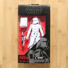 100/% Hasbro Star Wars Black Series First Order Stormtrooper With Gear NEW