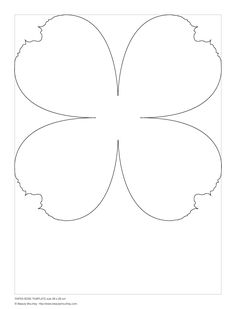 paper rose template (small)