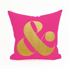 Ampersand Pillow Cover
