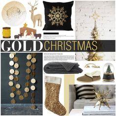 Winter Decor Gold Christmas