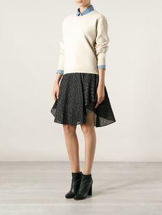 Chloé Patterned Flared Skirt - Stefania Mode - Farfetch.com