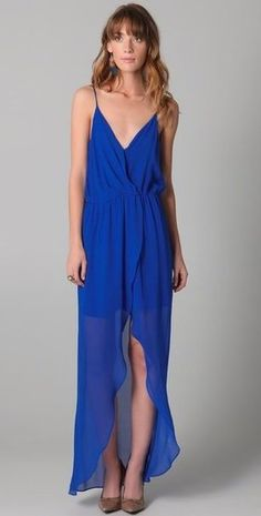 Rory Beca Jones Fishtail Wrap gown.