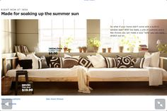 Two ikea beds for a couch $39 per frame - guest or sewing room day bed inspiration