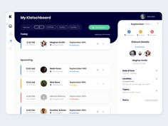 Dashboard UI - Meetings App webapp flat dashboard web ux ui - My Recommendations Dashboard Ui, Project Dashboard, Dashboard Design, Dashboard Template, Interface Design, Web Ui Design, Design Design, Flat Design, Web Responsive