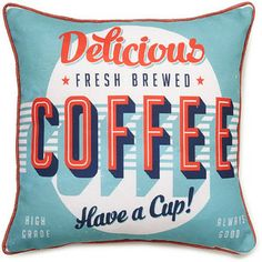 Coffee print cushion