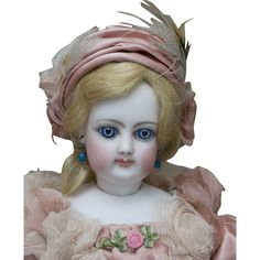 """13"""" (33 cm.) Gorgeous Antique Tiny French Fashion doll by Gaultier from respectfulbear on Ruby Lane"""