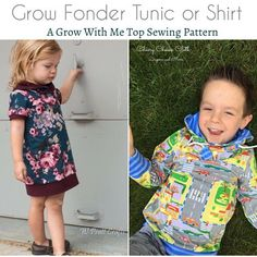 *** This listing is for a PDF pattern, not a physical item ****  This pattern offers three Grow-With-Me sizes: 3-12 months,1-3 years and 3-6 years. The sizes are adjustable through the use of foldable cuffs or waistband. With two different options for the neck type, sleeve length