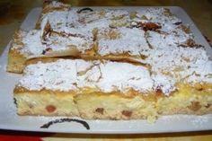 Desert cu branza si stafide - Culinar.ro Romania Food, Strudel, Dessert Recipes, Desserts, Something Sweet, Vanilla Cake, Banana Bread, Bakery, Food And Drink
