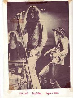 Ian Gillan, Jon Lord, & Roger Glover: Deep Purple, circa 1973