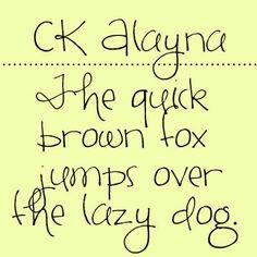 Alayna font from Creating Keepsakes