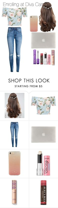 """""""Enrolling at Diva Camp"""" by londonblossom ❤ liked on Polyvore featuring ASOS, Miss Selfridge, H&M, Tucano, Kate Spade, Benefit, Burt's Bees and tarte"""