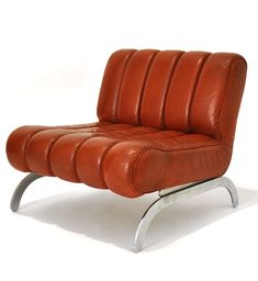 Karl Wittmann; Steel and Leather 'Independence' Lounge Chair, c1970.
