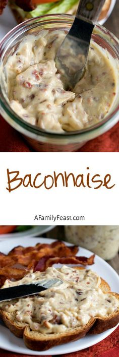 Baconnaise - Add fantastic flavor to any sandwich with this bacon-flavored mayonnaise! Made with hickory smoked bacon and a dash of liquid smoke.