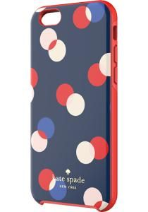 kate spade new york - 3 Dot Hybrid Hard Shell Case for Apple® iPhone® 6 - Navy - Larger Front