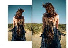 BACKPACK BY HAMAJI #fringe #suede #tassel #maxiskirt #skirt #mesh #navy #boho #fashion #bohemian #designer #design #capetown #photography #film #southafrica #thenonseason #gabrielacharlotte by #GFD     www.gabrielafraserdesigns.com | ORDER gabriela@gabrielafraserdesigns.com  Images / Gabriella Achadinha Dry Ice, Boho Fashion, Womens Fashion, Art Direction, Tassel, Backpack, Mesh, Dreadlocks, Bohemian