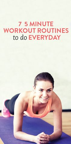 7 workout routines to do every day (or combine to make a great circuit workout) Lose 10 Pounds In A Week, Losing 10 Pounds, 7 Workout, Workout Routines, 8 Minute Workout, Oblique Workout, Plank Workout, Workout Ideas, Sport Fitness
