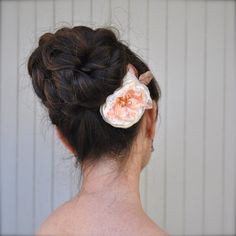 Items similar to Vintage blush, peach of mint blossom hair clip with velvet leaves. Soft and romantic. on Etsy Bridesmaid Hair Accessories, Flower Hair Accessories, Ballet Inspired Fashion, Ballet Hairstyles, Flower Girl Tutu, Wedding Order, Blush Pink Weddings, Peach Blossoms, Flower Hair Clips