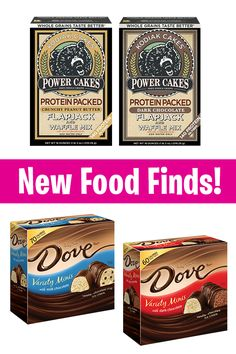 High-protein pancakes, low-calorie ice cream bars & more! Prepare to flip over these new mixes by Kodiak Cakes! About three 4-in. flapjacks = 190-210 calories   4-6g fat   14g protein   6 Weight Watchers SmartPoints   Also, Dove's new mini ice cream bars are the perfect portion-controlled summer treat: 1 piece: 60-70 calories   4-4.5g fat   3 Weight Watchers SmartPoints   PIN!