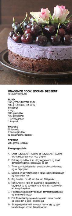 Kærlig Kirsebærdrøm Yummy Treats, Delicious Desserts, Sweet Treats, Baking Recipes, Cake Recipes, Dessert Recipes, Danish Food, Dinner Is Served, Frisk