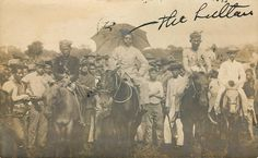 The Sultan of Sulu and American soldiers. Jolo, Philippines, 1901.