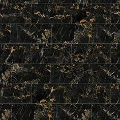 Textures Texture seamless | Portoro black marble tile texture seamless 14121 | Textures - ARCHITECTURE - TILES INTERIOR - Marble tiles - Black | Sketchuptexture