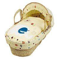 Clair de Lune Palm Moses Basket - ABC - Crux Baby