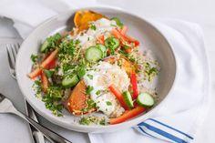Greek Baked Sweet Potatoes | Bourbon and Honey