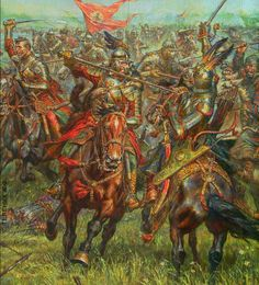 Polish hussars charge against Turkish heavy cavalry Military Art, Military History, Thirty Years' War, Knight Armor, Modern Warfare, Dark Ages, Medieval Fantasy, Ancient History, Renaissance