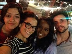 Katie Findlay, Karla Souza, Aja Naomi King and Jack Falahee